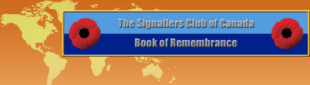 Sigs Club Book of Remembrance (Honour Roll)